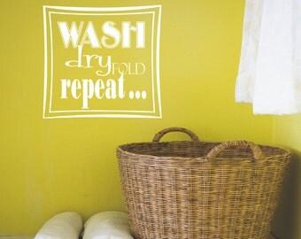 Laundry Room Vinyl Wall Decal - Vinyl Wall Lettering -  Home Decor - Laundry Room Vinyl Wall Decal