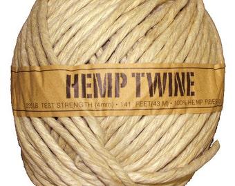 wholesale hemp twine cord 141ft 4mm