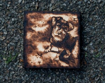 4 x 4 Custom Woodburning Pet Portrait
