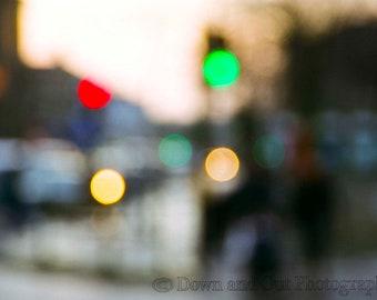 8 x 12 London Stoplight Blur