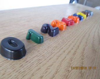 Number crayons 10 set - party favor - stocking stuffer - recycled crayons