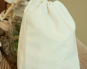 50 Bulk Premium Cotton Muslin Bags, 10 x 12 inches - PLAIN, gift bags, party favor bags, product packaging and more