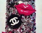 "Bling cell phone case...""Lip Gloss Poppin"""