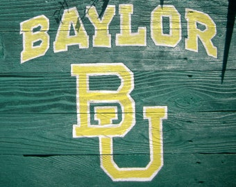 Baylor University Rustic Sign