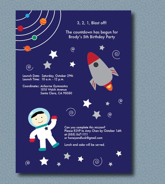 astronaut invitations - photo #5