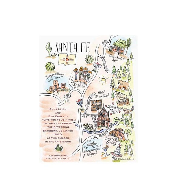 Couture Map Full Color Wedding Invitation