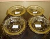 """Set of 4 Florentine No.1 Poppy No. 1 Yellow 5"""" Berry Bowls"""