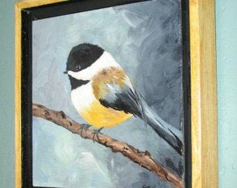 Original Acrylic CHICADEE Painting