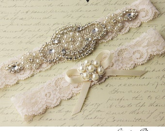 BEST SELLER Wedding garter, Bridal Garter set, wedding garter set, crystal garter, stretch lace garter