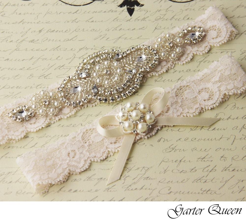 Personalized Wedding Garter Sets: BEST SELLER Wedding Garter Bridal Garter Set Wedding Garter