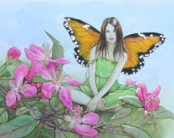 Original watercolour painting 'Faery Blossom'