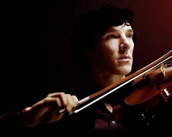 Violinist (Sherlock) Canvas or Glossy Art Print