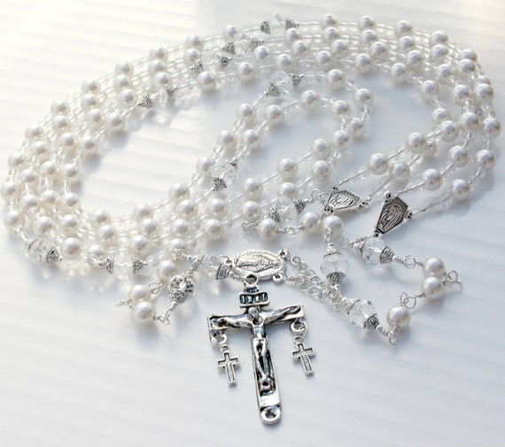 Wedding Lazo: Items Similar To Custom Rosary Wedding Lasso, Wedding Lazo