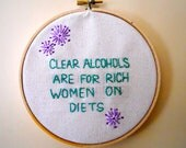 Clear Alcohol Embroidery