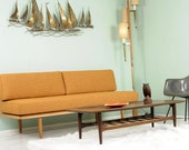 Mid Century Style Sofa, New Upholstery and Frame.