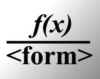 Function over Form vinyl decal
