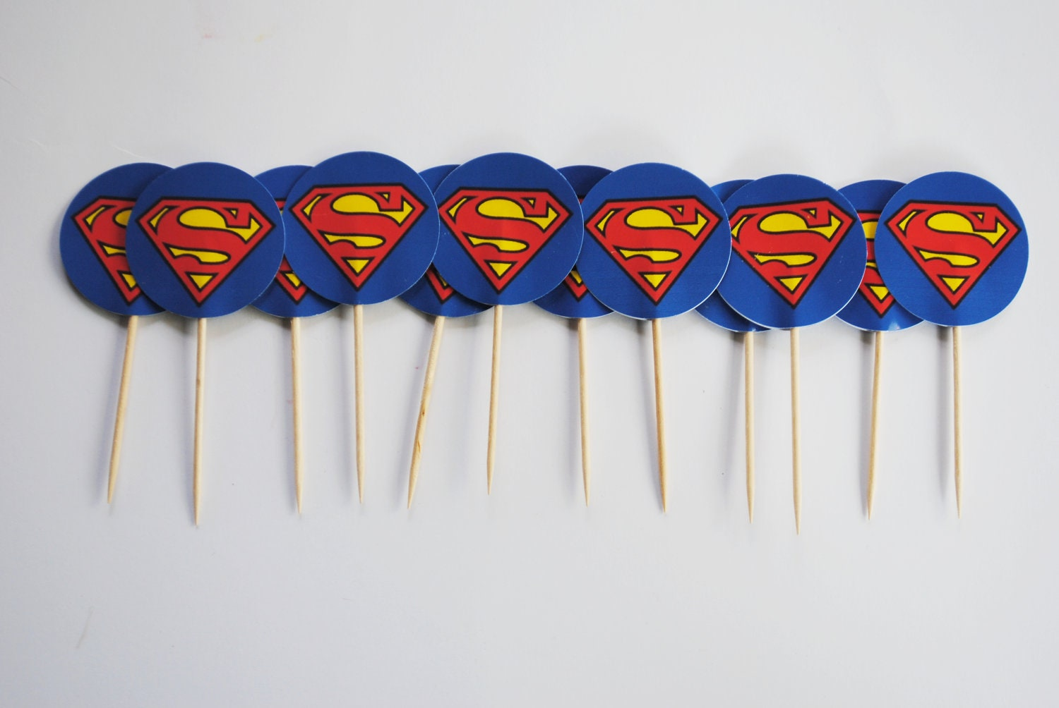 superman cupcake toppers by chocrain on etsy