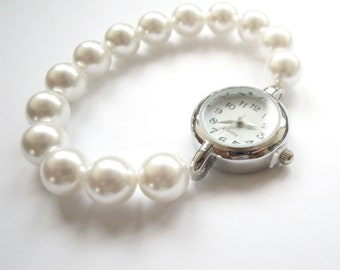 Pearl Bracelet Watch Simple Elegant