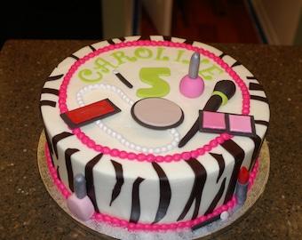 Mermaid party cake decorations set edible fondant under the