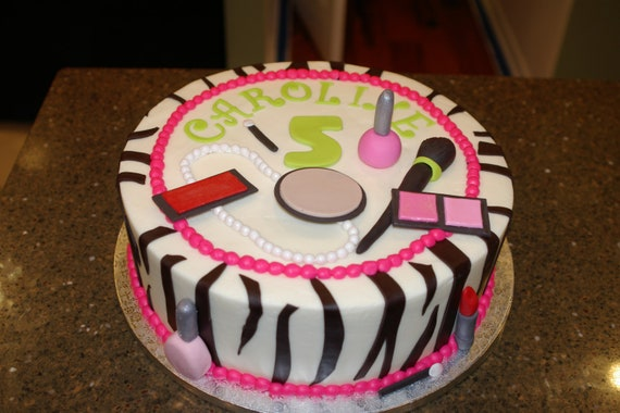 Cake Decorating Solutions Edible Images : Edible fondant makeup set for cake decorating by FatGirlCakes