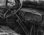 "Man Cave, B&W Photograph, Army Veteran, ""Neglected"""