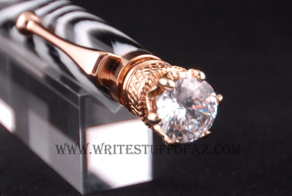 Zebra Stripe Twist Pen, Adorned with Swarovski Crystal