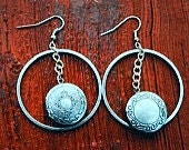 Lock 'em up dangly earrings