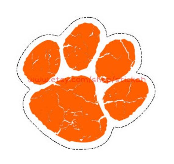 Orange Ed Sheeran Paw Sticker