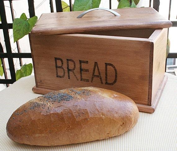 Wooden handmade bread box. Vintage style.