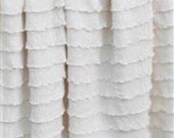 "Ruffle Fabric Ivory Cascading 1"" Ruffle Fabric 1 yard"