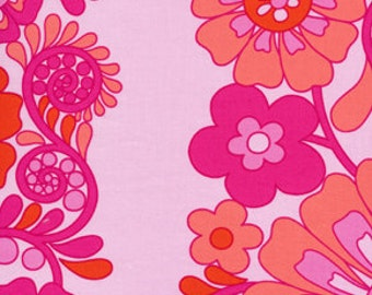 Fabric 'Queen Street' Fuchsia Floral by Jennifer Paganelli for Free Spirit 1 Yard