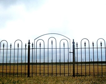 Solid Steel Wrought Iron Gate that works with our 3' Tall Interlocking Fence or Your Fencing