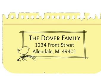 Custom Address Stamp, Pre-inked Stamp, Personalized Rubber Stamp, Custom Address Stamp, Allendale