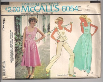 70s McCalls 6054, size 10 sundress/top