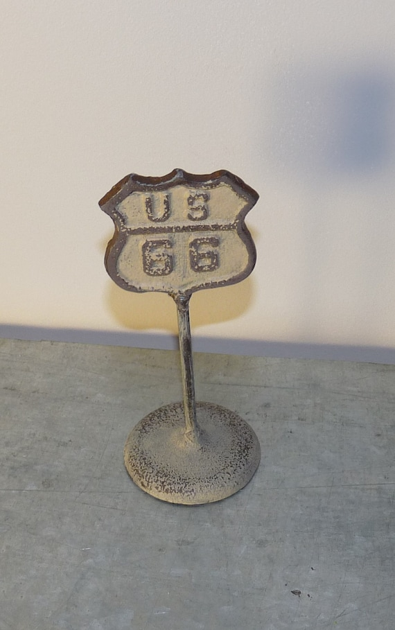 Home Decor Route 66 Road Sign Cast Iron Decor By