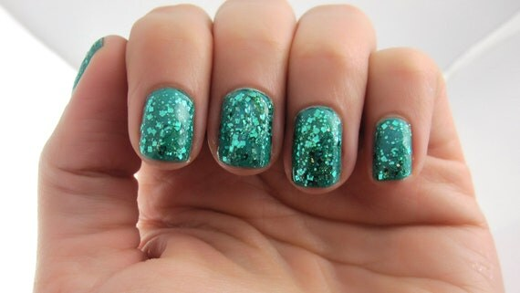 40% OFF - Teal Me...Please - Teal, Prism Glitter Nail Polish