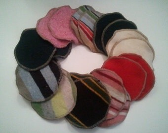 Custom Recycled Wool Nursing Pads--Regular Size