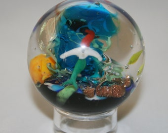 Aquatic Marble with Mermaid