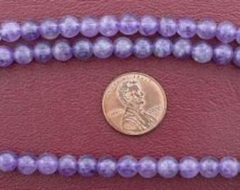 6mm round gemstone amethyst beads
