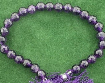 8mm round faceted aaa african amethyst gem stone beads