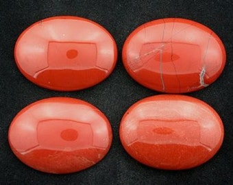 2 30x22 oval red jasper cabochon gem stone gemstone