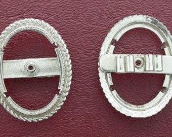 one silver plated 30x22 bolo bola tie mounting cf215