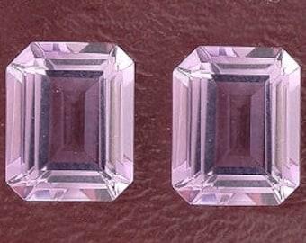 two 10x8 emerald cut amethyst gem stone gemstone
