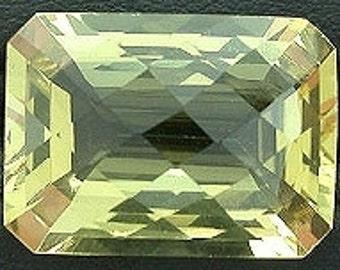 18x13 checkerboard emerald cut citrine gemstone