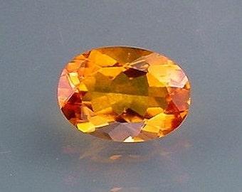 14x10 oval brandy quartz gem stone gemstone