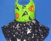 Halloween Pumpkin Dog Harness Dress w/D ring 806014 S