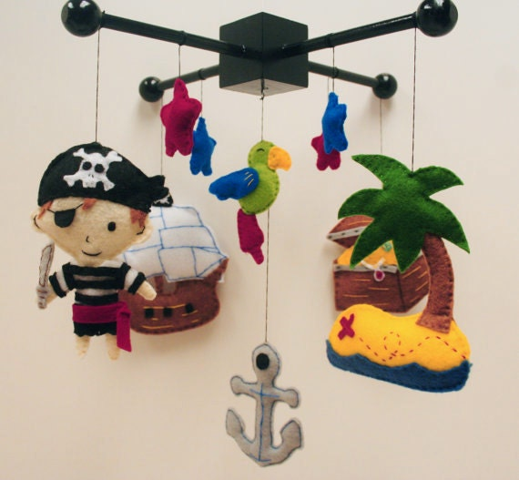 Pirate Baby Mobile Pirate Felt Baby Mobile