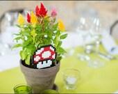 Champignon Mario // Mushroom - déco à piquer pour plante
