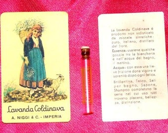 Vintage Lavanda Coldinava Perfume Card & Vial
