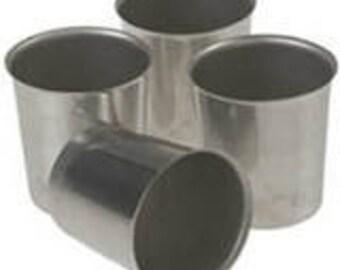 2 Pack Aluminum Votive Candle Molds